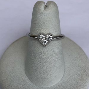 Tiffany and Co. Platinum Diamond Hearts Ring